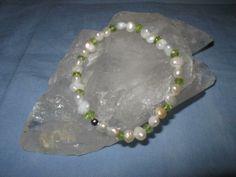wunderschönes Armband Süsswasserperlen und Peri... von glastropfen´s Kreativwerkstatt auf DaWanda.com