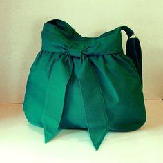 Sale Bright teal canvas bag Shoulder bag Diaper bag by tippythai