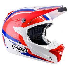 Lazer SMX Des Nations Helmet White Red Blue