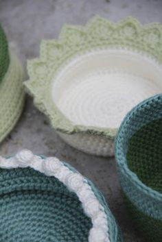 creJJtion: Pattern: Edging for Crochet Baskets