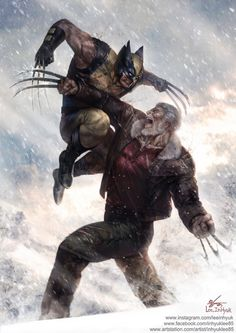 ArtStation - Wolverine vs Old man Logan, InHyuk Lee