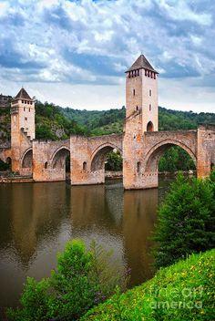 Valentre Bridge In Cahors, France by Elena Elisseeva