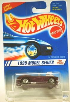 Hot Wheels 1995-3 of 12 PURPLE '58 Corvette Coupe Model Series 1:64 Scale by MATTEL. $0.01. 1:64 Scale Die-Cast Collectible Car. 1994 - Mattel / Hot Wheels - Scoop Doors - 1958 Corvette Coupe / Purple w/ Chrome Engine & Roll Bar - 1995 Model Series / #3 of 12 - 1:64 Scale Die Cast Metal - MOC - Out of Production - New - Limited Edition - Rare - Collectible