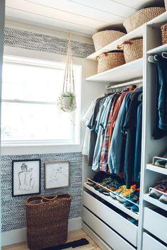 … Ikea Pax Closet, Closet Bedroom, Closet Space, Walk In Closet Ikea, Master Closet Design, Small Master Bedroom, Small Master Closet, Small Space Bedroom, Master Suite