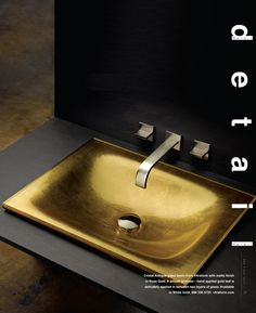 Antiqued gold sink - beautiful