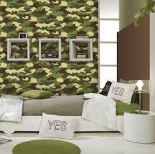 Amazing Camouflage Bedroom Interior Decoration For Boys