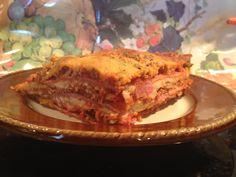 Meaty Lasagna - Au Naturale! (Gluten free, NO NOODLES!) By www.aunaturalenutrition.com