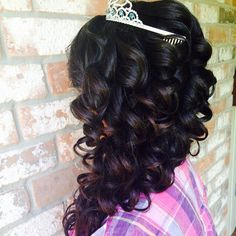Quinceañera hairstyle