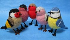 Alan Dart Knitting Garden Birds Pattern (Simply Knitting UK Mag Issue 103)