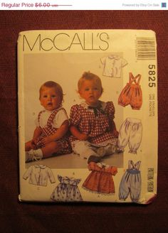 SALE Uncut 1992 McCall's Sewing Pattern 5825 by EarthToMarrs, $4.20