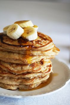 I recently came across this AH-MAZING pancake recipe from TGIPaleo-one of my newest favorite Paleo recipe sites around! I decided it was worth a try, being the avid pancake lover that I am. I made these for my husband and I one morning and we could not b Coconut Flour Pancakes, Coconut Flour Recipes, Banana Pancakes, Paleo Recipes, Cooking Recipes, Paleo Banana Pancake Recipe, Oatmeal Pancakes, Vegan Pancakes, Protein Pancakes