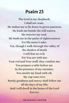 Psalm 91 Prayer, Prayer Scriptures, Bible Prayers, Faith Prayer, Prayer Quotes, Scripture Quotes, Faith Quotes, Catholic Bible Verses, Motivational Verses