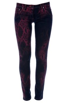 7a40903a98cf5 Roberto Cavalli Snake Print Jeans - Gothic - Fall Trends 2012 Punk Outfits