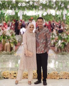 Image may contain: 2 people, people standing and outdoor – Beauty Shares Dress Brokat Muslim, Kebaya Muslim, Muslim Dress, Kebaya Modern Hijab, Kebaya Hijab, Modern Hijab Fashion, Hijab Gown, Hijab Dress Party, Hijab Style Dress