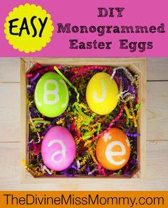 Easy DIY Monogrammed Easter Eggs