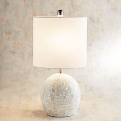 Mother-of-Pearl Spherical Table Lamp