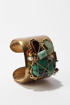 Stone Cluster Cuff Bracelet  #UrbanOutfitters