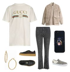 """🏧"" by hedvig-hogstrom-dahl on Polyvore featuring Gucci, STELLA McCARTNEY, H&M, Bony Levy, Puma, Vans and Givenchy"