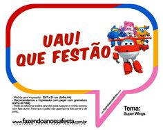 Plaquinhas Divertidas Super Wings 31