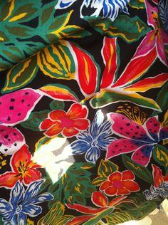 Vintage US tropical print