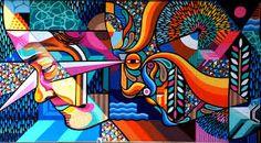Beastman x Vans the Omega New Mural For Rise Street Art Festival - Christchurch, New Zealand Mural Painting, Mural Art, Wall Art, Murals, Graffiti Art, Street Art News, Urbane Kunst, Collaborative Art, Design Blog