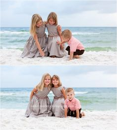 Sibling beach pictures, Florida, beach clothing ideas, children beach pictures, Watercolor pictures, Seaside pictures, family beach photos // Catherine Clay Photography