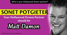 Who is your Hollywood dream partner?