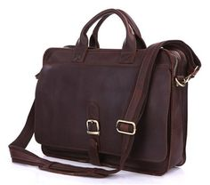 Mens Genuine Leather Briefcase Laptop Tote Bags Shoulder Business Messenger Bags(A123)