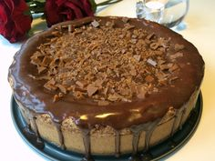 Glutenfri daimchokladtårta | Glutenfria godsaker Gluten Free Baking, Gluten Free Recipes, Cake Recipes, Dessert Recipes, Desserts, Drink Recipes, Grandma Cookies, Bakery Cakes, Foods With Gluten