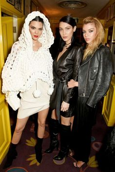 In Burberry With Bella Hadid And Stella Maxwell - At the Lovemagazine and Burberry party in London, February 2017
