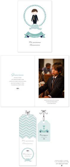 creatura: Recordatorios personalizados de comunión para niños y niñas