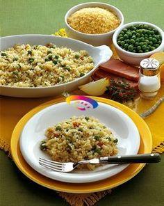 Riso con piselli e prosciutto #ricette #cucinaremeglio via @cucinaremeglio
