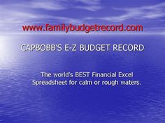 From www.familybudgetrecord.com comes The Family Budget Record which is a spreadsheet that allows the user to achieve financial goals by setting up a budget amount for 50+ expense items that are common for most individuals or families. Expenses can b Dont  procrastinatefor the next 10 or 15 years from now  you can retire and do it in less that 3... http://waynelevings.com/emp1008/ #Exit_stratergy #Retirement_plan #Pension