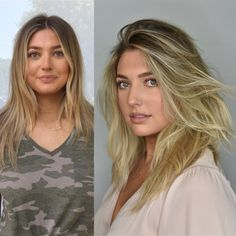 Mind Blowing Hair Transformation Before & After Photos - Gallery Bangs With Medium Hair, Medium Hair Styles, Short Hair Styles, Short Hairstyles For Women, Messy Hairstyles, Healthy Hair Tips, Hair Color For Women, Ombre Hair Color, Great Hair