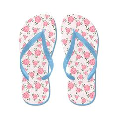 Lplpol Pretty Pink Flowers Pattern Flip Flops for Kids and Adult Unisex Beach Sandals Pool Shoes Party Slippers >>> Be sure to check out this awesome product.