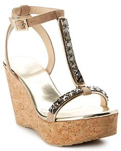 Spotted this Jimmy Choo Naima Jeweled T-Strap Wedge Sandal on Rue La La. Shop (quickly! T Strap, Wedge Sandals, Jimmy Choo, Product Launch, Wedges, Platform Wedge, Jewels, Boutique, Shopping