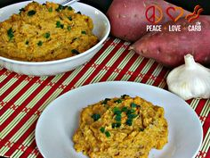 Roasted Cauliflower and Sweet Potato Puree - Low Carb, Gluten Free | Peace Love and Low Carb