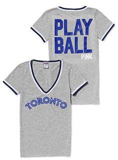 Toronto Blue Jays V-neck Tee - Victoria's Secret Pink® - Victoria's Secret