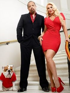 """(Photo) Ice T, Coco & Spartacus Gear Up For Season 2 Of """"Ice Loves Coco""""! on In Flex We Trust – Ice T, Coco and their dog, Spartacus, are ready for… Ice T And Coco, Bulldog Pics, Bulldog Puppies, Interracial Couples, Couples In Love, Mixed Couples, Cutest Couples, Famous Couples, Famous Celebrities"""
