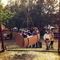 Bay Area Renaissance Fair: Barrel Swing