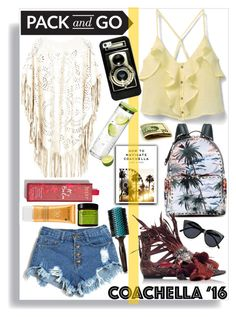 Fun in the sun by thestrawberryfields on Polyvore featuring MANGO, N°21, Valentino, Casetify, Le Specs, Lancôme, Moroccanoil, blomus, contest and feathers