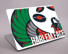 MacBook Decal for Harlem Face DJ by Mandarinada Creativa