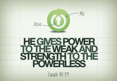 strength for weak and powerless