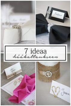 7 impressive wedding table setting ideas. / Kattausideoita häihin. Katso 7 erilaista hääkattausta.