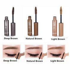 Only $1.87 , AddFavor 3D Fiber Eyebrow Gel Tint Mascara Cream Paint Eye Brow Makeup Pigment Eyebrow Enhancer Natural Dye Waterproof Eyebrow