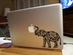 Elephant Laptop Decal by ShepStuff on Etsy, $8.50