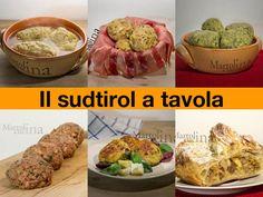 IL SUDTIROL A TAVOLA #sudtirol #trentino #strudel #canederli South Tyrol, Gnocchi, Fresh Rolls, Menu, Lunch, Baking, Dinner, Ethnic Recipes, Food