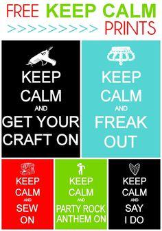 FREE Random Keep Calm Prints on { lilluna.com }