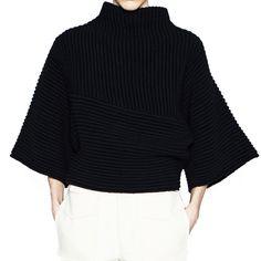 Acne Studios Grace Black Cropped Sweater