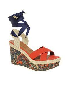 ASOS - HAZEL - Chaussures compensées à imprimé cachemire
